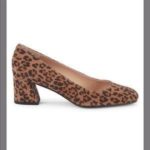 Leopard-Print Suede Pumps